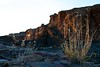 Chaco Canyon walls and ruins