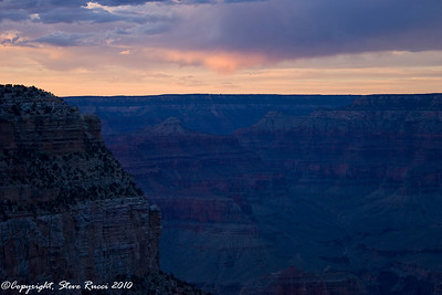 Grand Canyon after sunset from the South Rim.