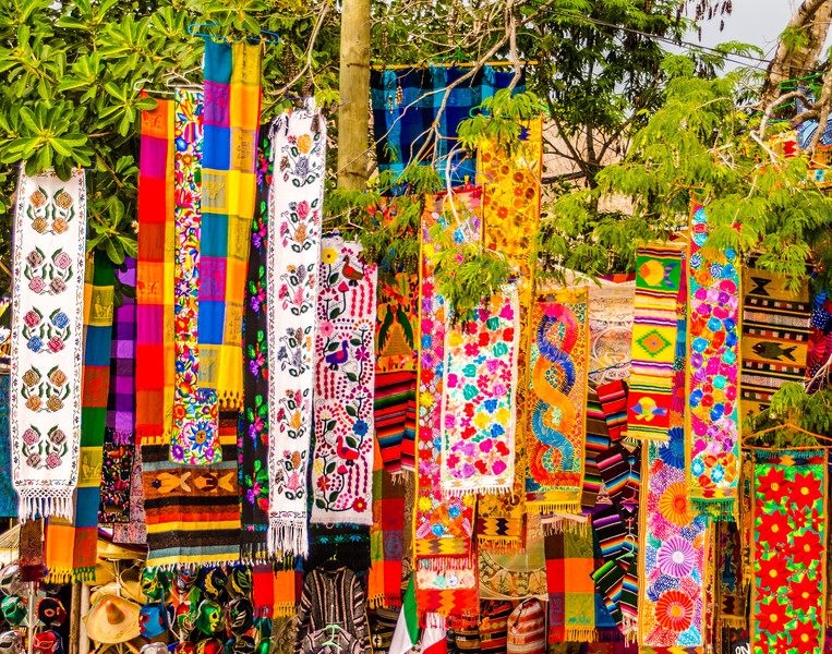 Mayan Style Weavings<br /> Tulum, Mexico