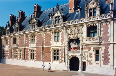 Entrance wing Chateau de Blois France - Jul 1996