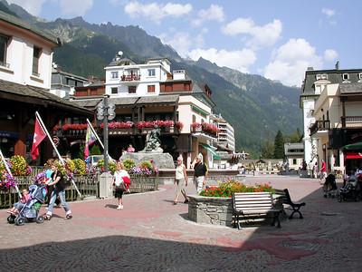 Town Center Chamonix,  France.