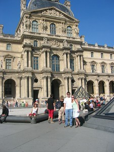 Courtyard of the Louvre without the bonehead tourist.