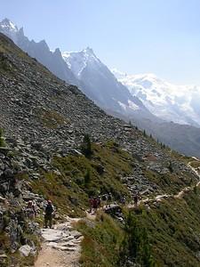 Montagne de Blaitiere heading toward Plan de l'Aiguille.