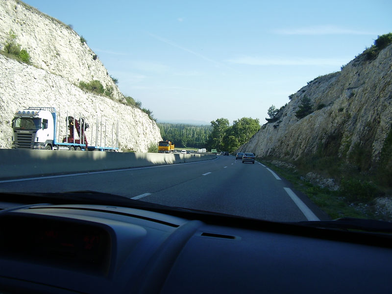 A highway leading to Avignon.