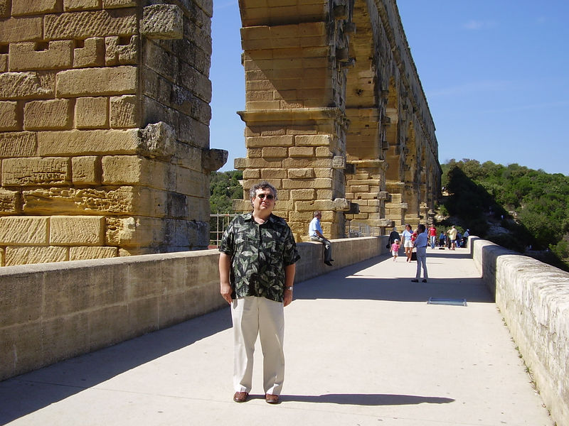 Wendell on the Pont du Gard.