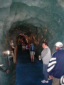 Inside an Ice Grotto.