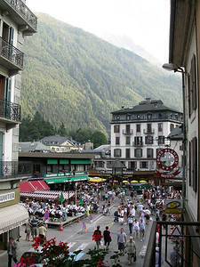 City life in Chamonix.