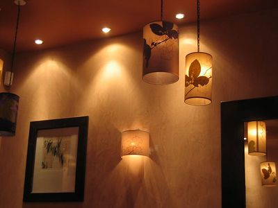 Cafe Sud off rue Tronchet. Lights for Nancy.