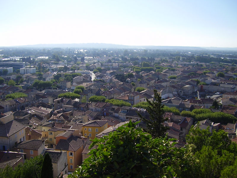View of Châteaurenard from its castle.