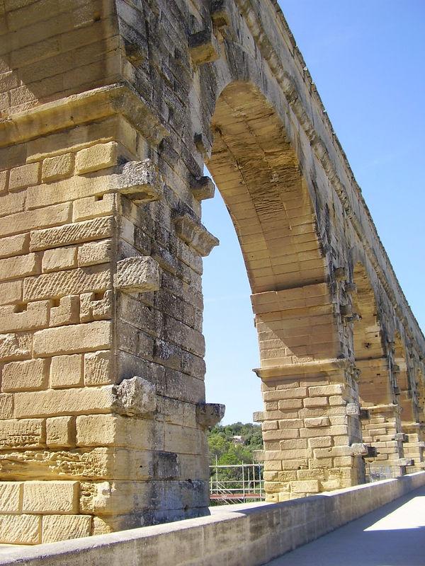 On the Pont du Gard.