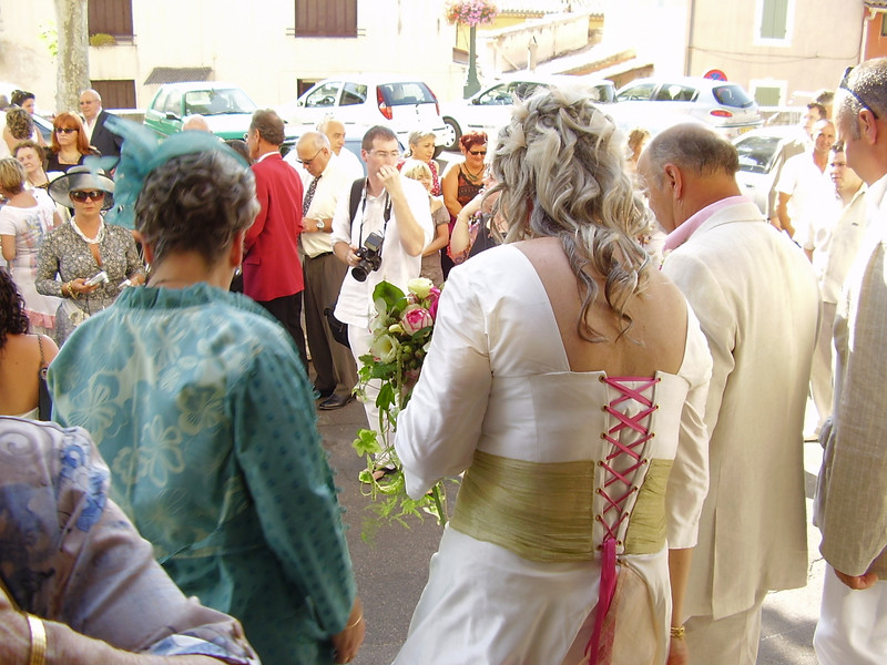 Outside La Mairie after the ceremony. Time for more photos.