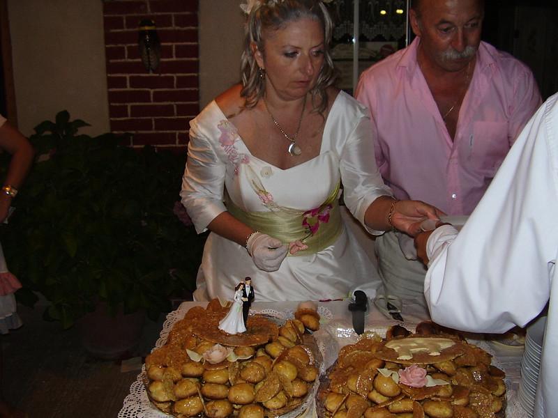 The wedding pastry.