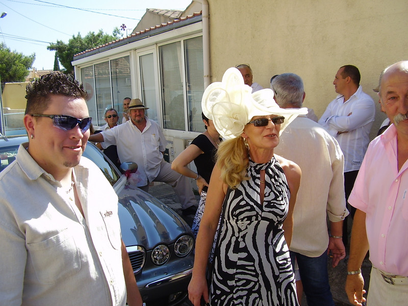 Cedric, Nella, and Daniel. Jean-Pierre in the background beside the Jaguar.
