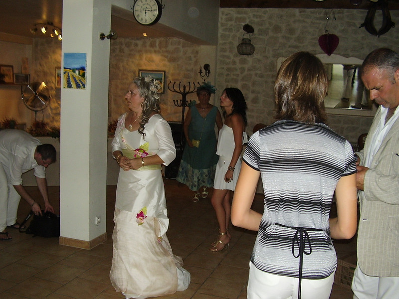 Muriel and Lysiane at the wedding party.