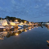 Evening at Port En Bessin harbor on Normany coast