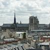 Paris skyline from Centre Pompidou - French National Modern Art Museum