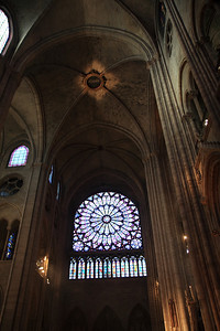 Notre Dame, Interior - North Rose Window