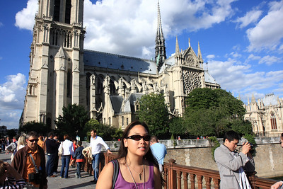 Notre Dame, Kim in front of the South Elevation