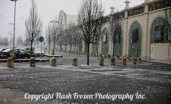 Snow in Paris...