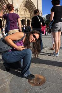 Notre Dame, Kim at Point Zero Paris
