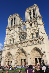 Notre Dame, West Elevation, Portals and Rose Window