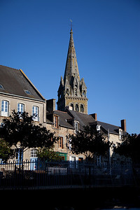 This is the lovely (and deserted) town square of Bécherel