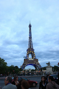 Eiffel Tower at dusk