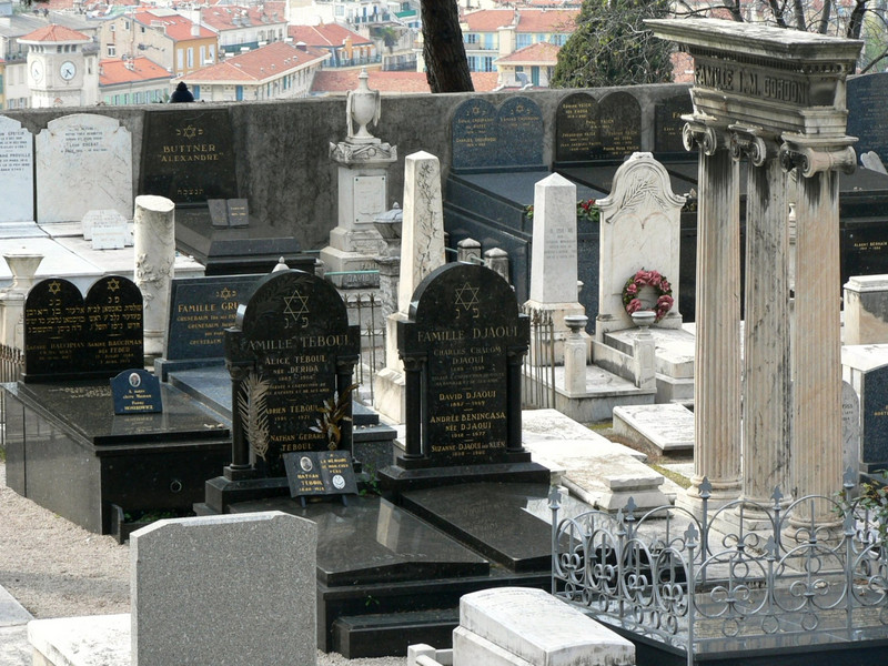 The Jewish cemetery in Nice