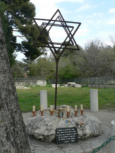 Memorial to the 3,612 people from the Nice area lost in the Holocaust.