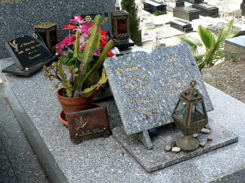 A grave in the Jewish cemetery