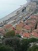 View of the Promenade des Anglais from the castle hill in Nice