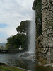 The artificial waterfall on castle hill in Nice
