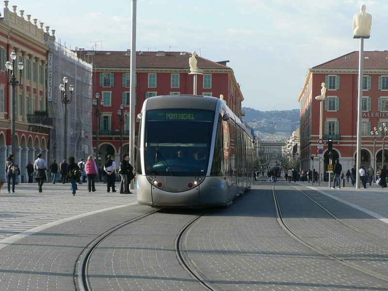 One of Nice's cool (but very crowded) trams