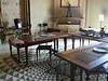 The dining room, with antique-Greek-style furniture at the Villa Kerylos