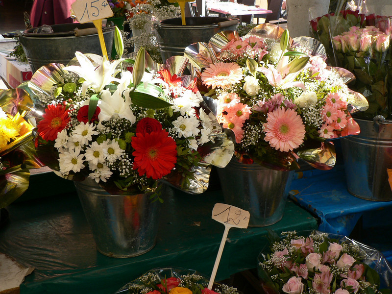 Flowers in the market on Cours Saleya