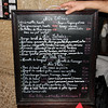 Paris - this is the Menu board referred to in the previous photo (as I recall, I had the chicken).
