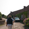 Serge leads us up the road of the fortifications: At Vezelay, a larger village (of 300!) near Blannay