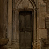 Narrow old door, in the Basilica: In the old town of Avallon, Burgundy, which was built in the 16th & 17th centuries