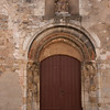Door, church: In the old town of Avallon, Burgundy, which was built in the 16th & 17th centuries