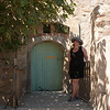 Courtney poses on the drawbridge that restricted access to the inner enceinte: On the island of Porquerolles, off Hyères, in southern France