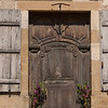 A local doorway: At Vezelay, a larger village (of 300!) near Blannay