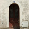 Old door: At the château of Amboise, towering over the city of the same name, in the Loire Valley, France. Amboise was a favorite of the old Orleans branch of the Bourbon monarchy of France.