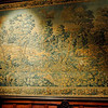 Chateau des Ducs de Brissac. Wall tapestry in the Louis XIII bedroom.