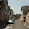 Newer city street: At the château of Amboise, towering over the city of the same name, in the Loire Valley, France. Amboise was a favorite of the old Orleans branch of the Bourbon monarchy of France.
