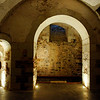 Chateau des Ducs de Brissac. One of the basement rooms. Another basement room houses the winery.
