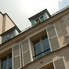 Dormer Windows with Flowers: In the Quartier Latin