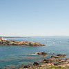 Looking toward the abandoned fort of Petit Langoustier: On the island of Porquerolles, off Hyères, in southern France