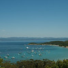 This is the tower's view of the harbor: On the island of Porquerolles, off Hyères, in southern France
