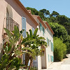 Porquerolles city streets: On the island of Porquerolles, off Hyères, in southern France