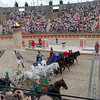 Race with four chariots.